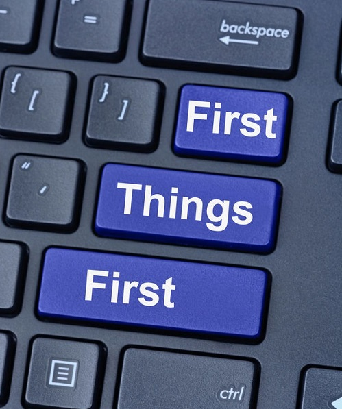 First things first on keyboard computer
